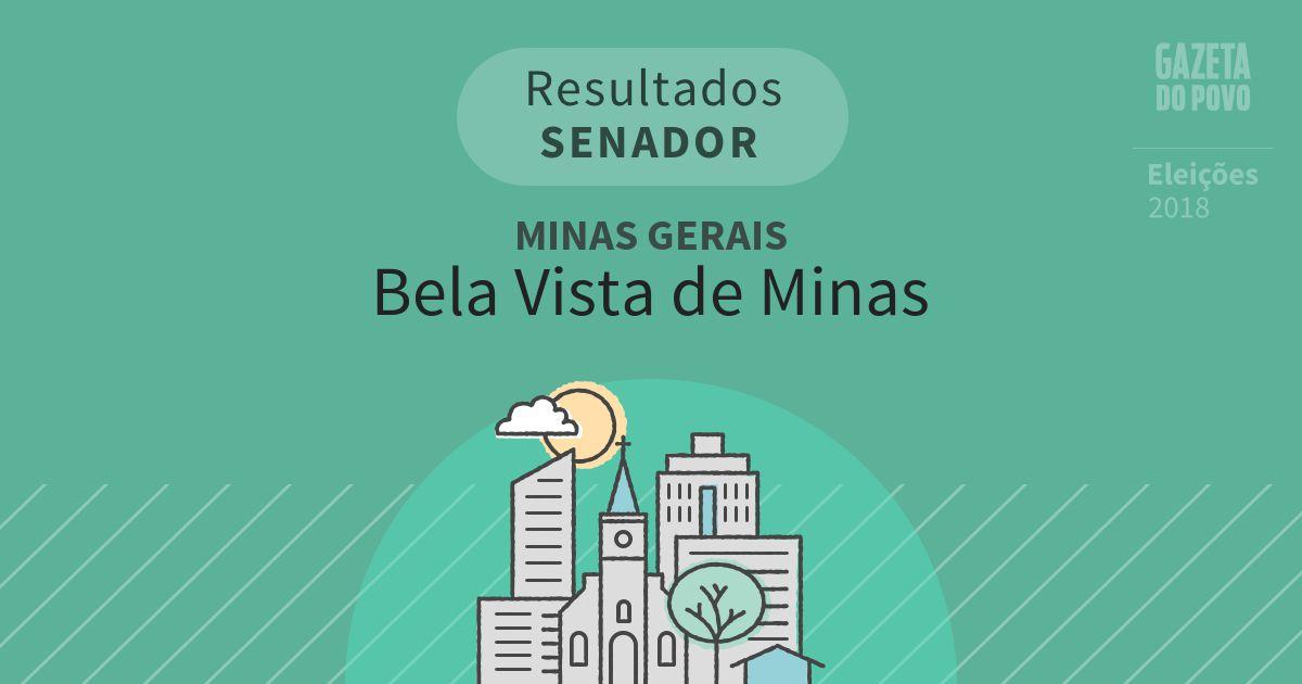 Resultados para Senador em Minas Gerais em Bela Vista de Minas (MG)