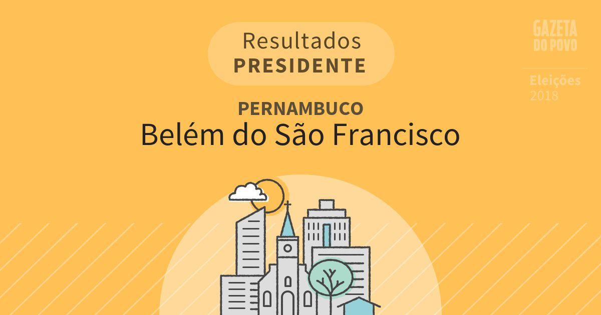 Resultados para Presidente em Pernambuco em Belém do São Francisco (PE)