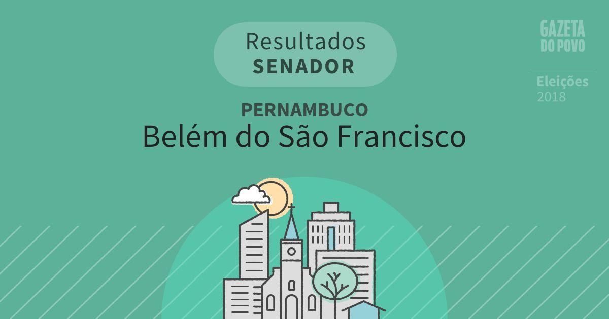 Resultados para Senador em Pernambuco em Belém do São Francisco (PE)