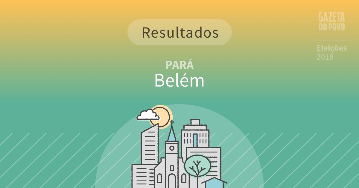 Resultados da votação em Belém (PA)