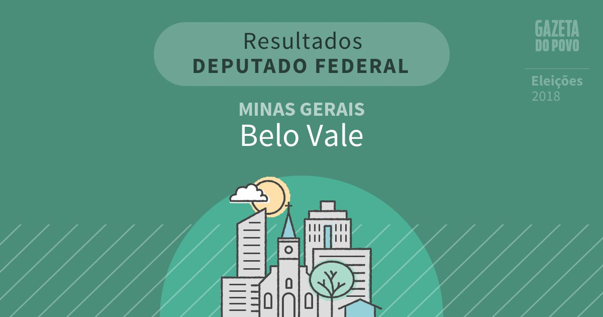 Resultados para Deputado Federal em Minas Gerais em Belo Vale (MG)
