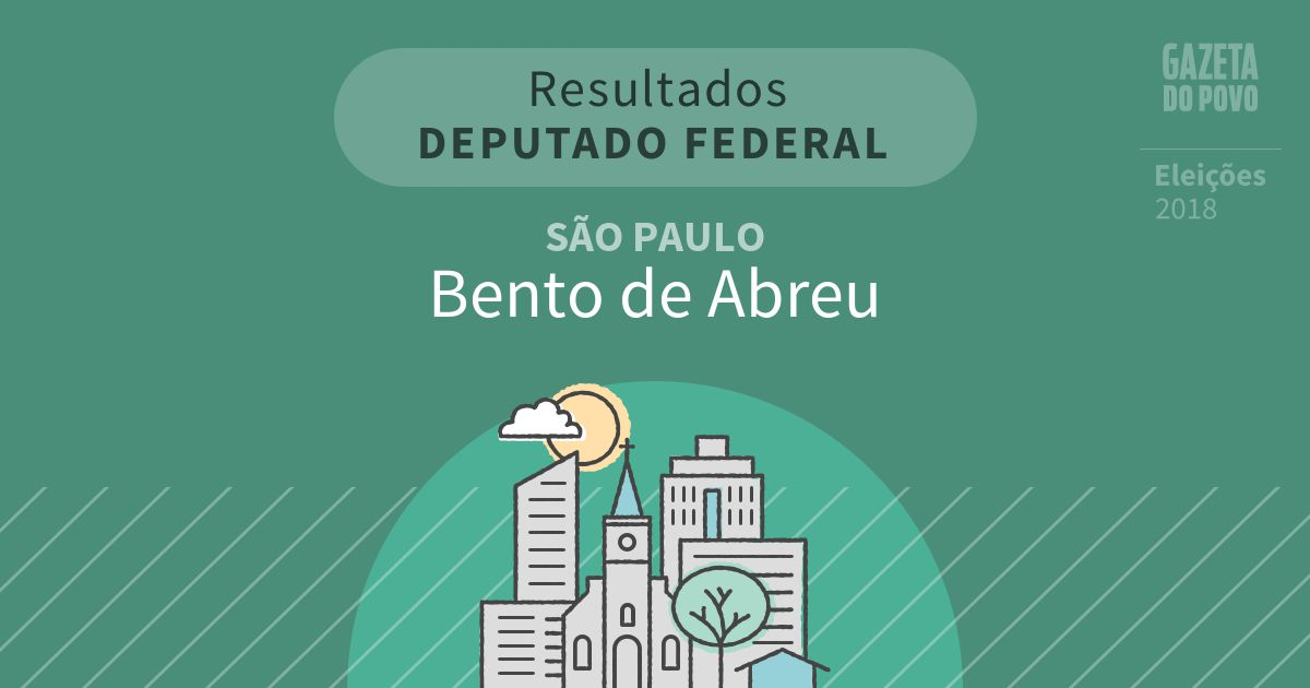 Resultados para Deputado Federal em São Paulo em Bento de Abreu (SP)