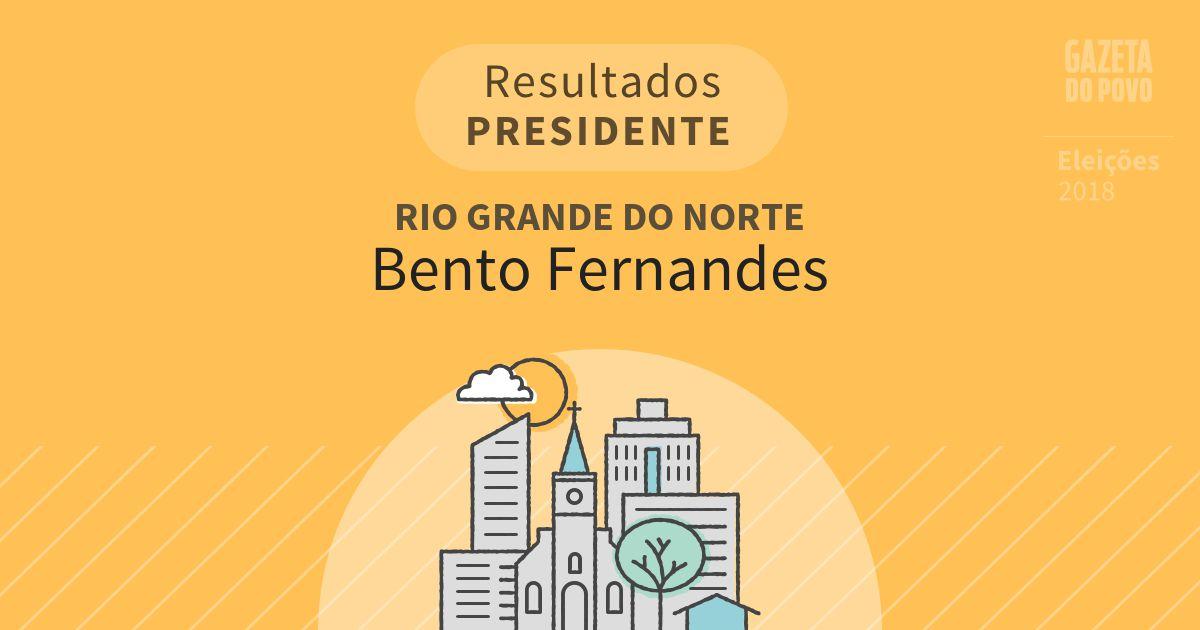Resultados para Presidente no Rio Grande do Norte em Bento Fernandes (RN)