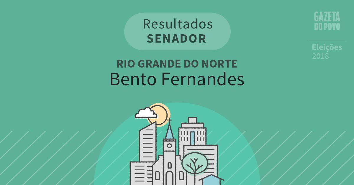 Resultados para Senador no Rio Grande do Norte em Bento Fernandes (RN)