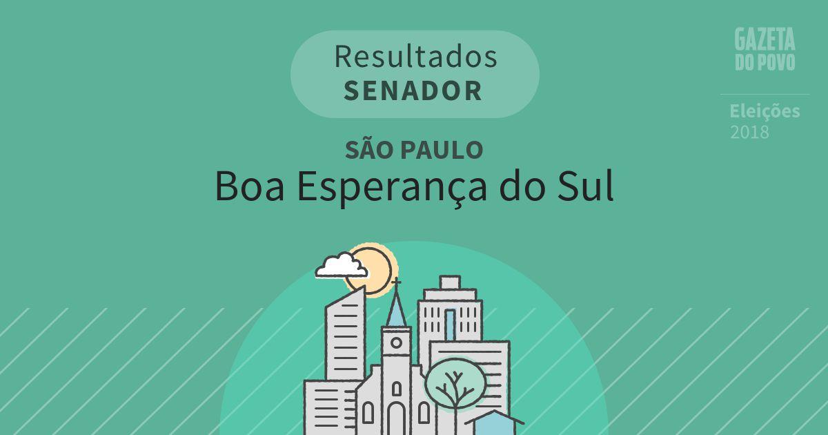 Resultados para Senador em São Paulo em Boa Esperança do Sul (SP)