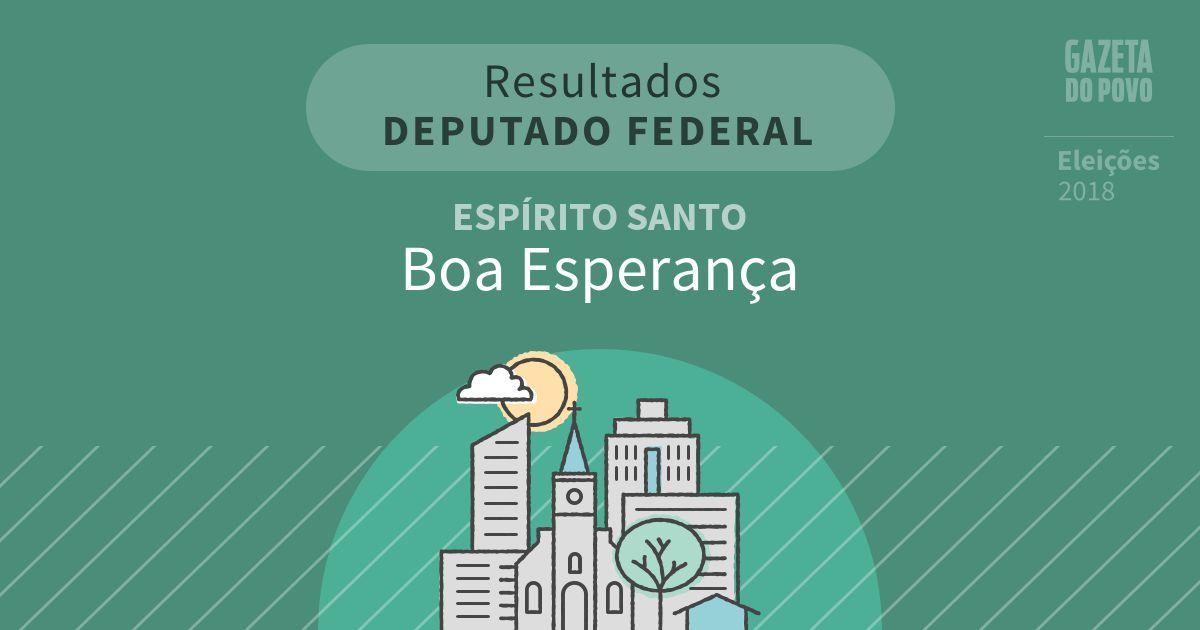Resultados para Deputado Federal no Espírito Santo em Boa Esperança (ES)