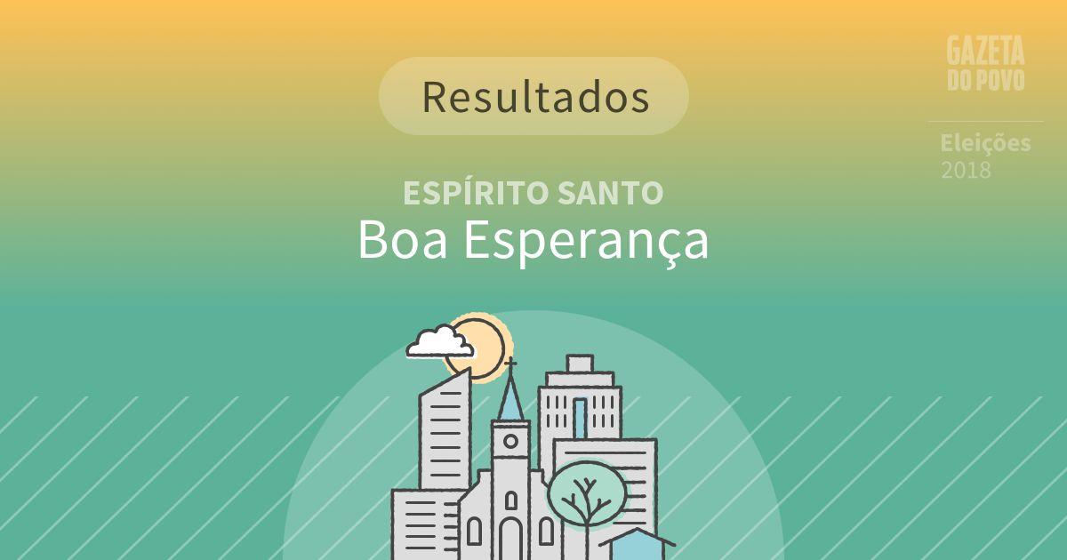 Resultados da votação em Boa Esperança (ES)