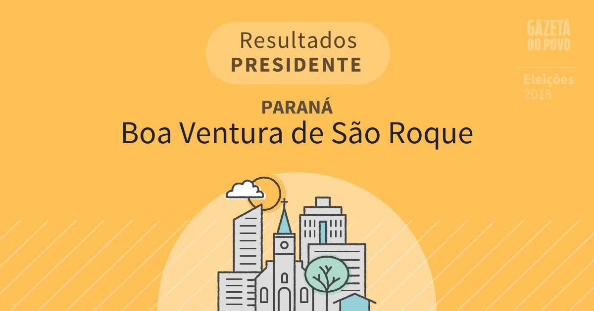 Resultados para Presidente no Paraná em Boa Ventura de São Roque (PR)