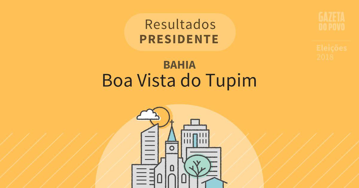 Resultados para Presidente na Bahia em Boa Vista do Tupim (BA)