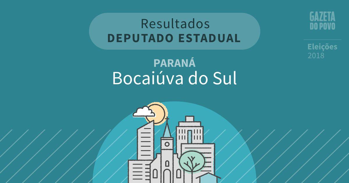 Resultados para Deputado Estadual no Paraná em Bocaiúva do Sul (PR)
