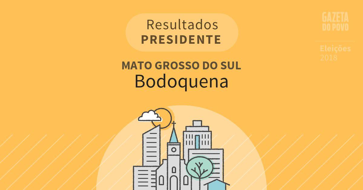Resultados para Presidente no Mato Grosso do Sul em Bodoquena (MS)