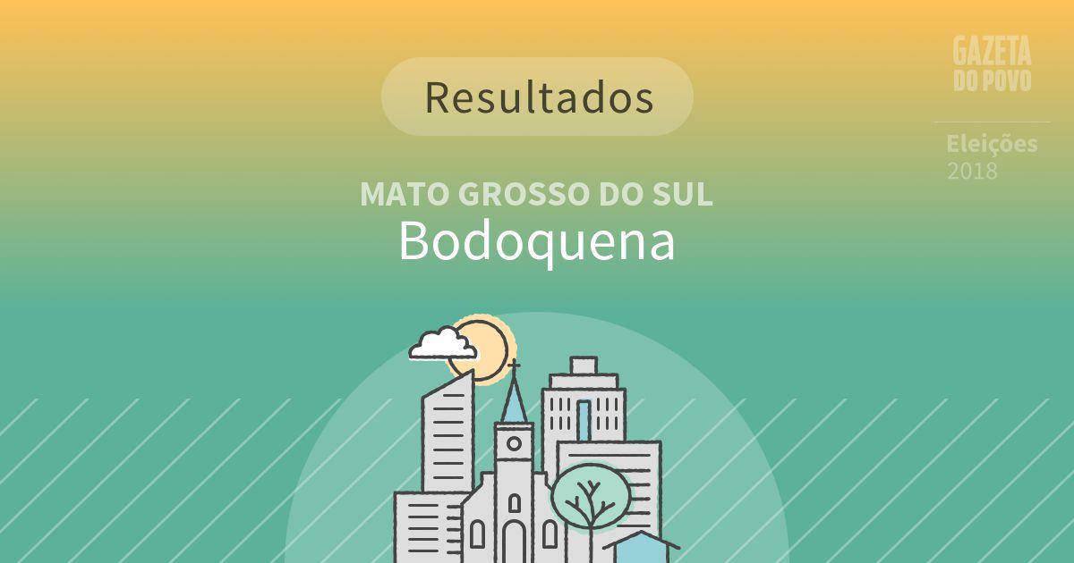 Resultados da votação em Bodoquena (MS)