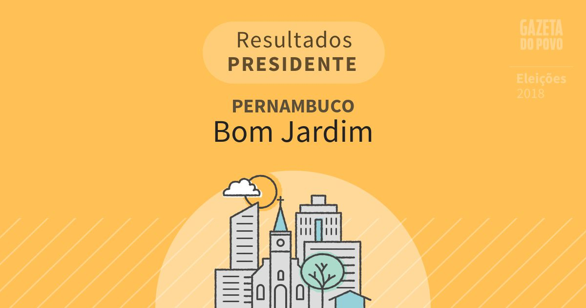 Resultados para Presidente em Pernambuco em Bom Jardim (PE)