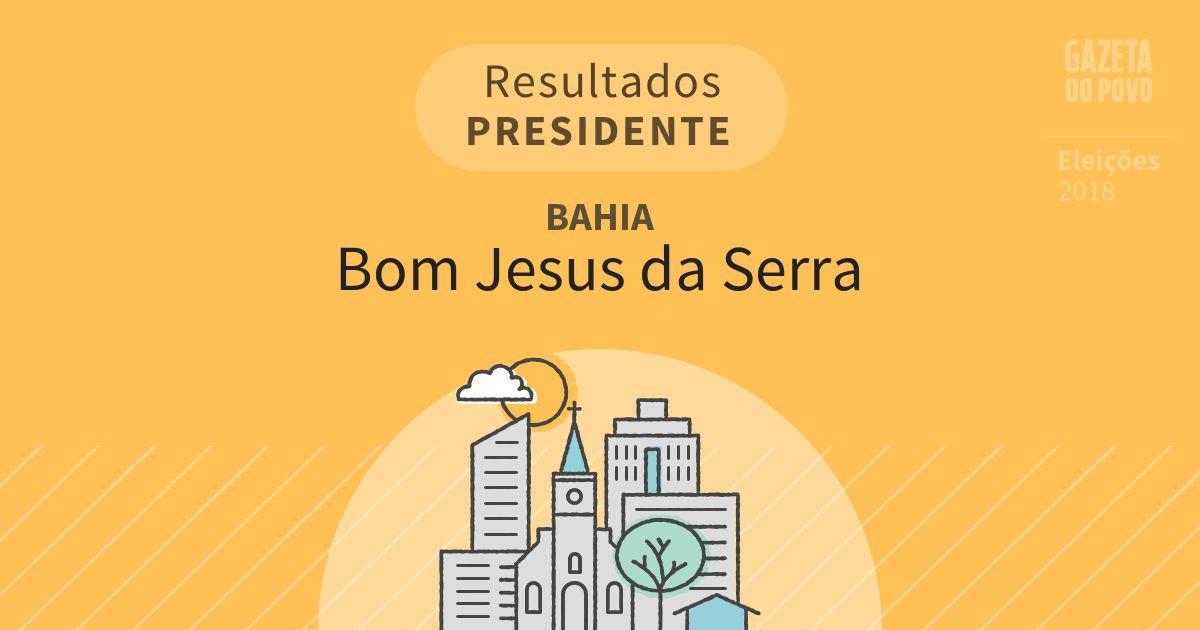 Resultados para Presidente na Bahia em Bom Jesus da Serra (BA)