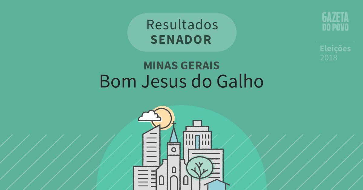 Resultados para Senador em Minas Gerais em Bom Jesus do Galho (MG)