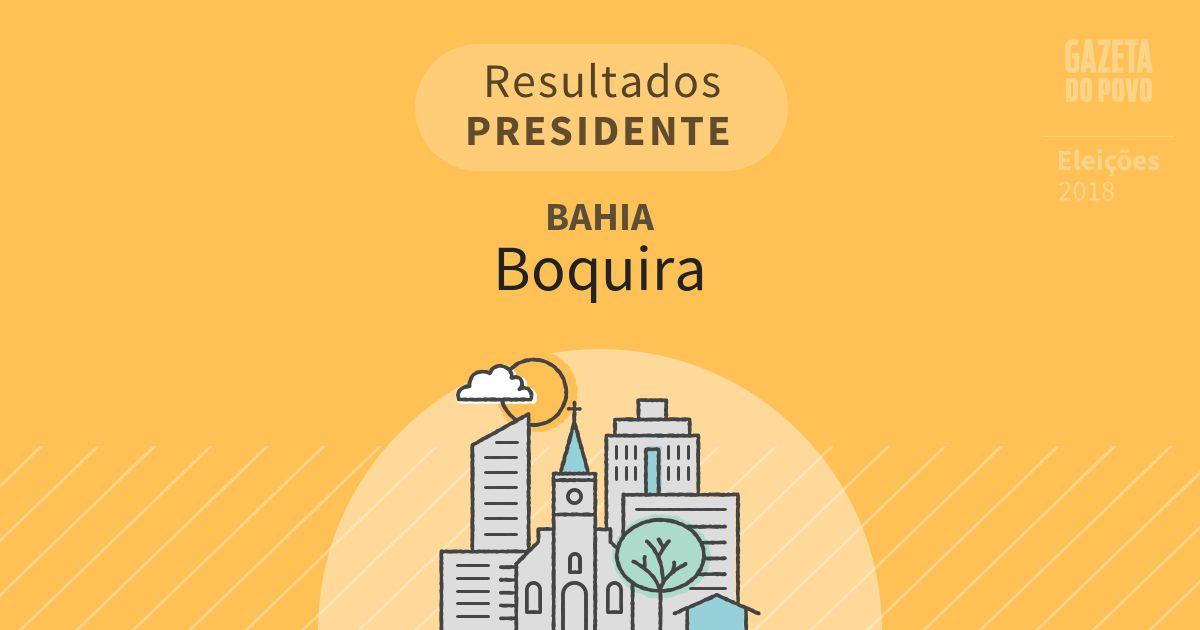Resultados para Presidente na Bahia em Boquira (BA)