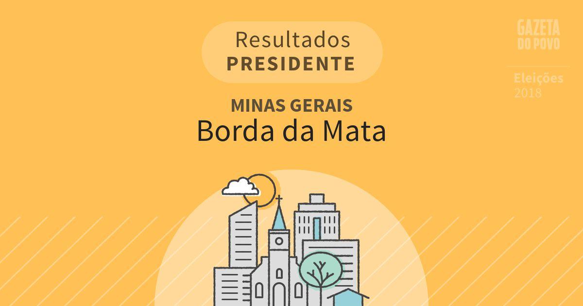 Resultados para Presidente em Minas Gerais em Borda da Mata (MG)