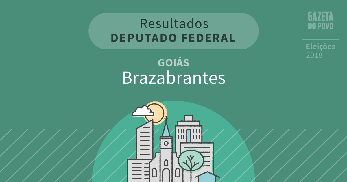 Resultados para Deputado Federal em Goiás em Brazabrantes (GO)