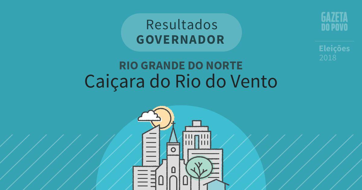 Resultados para Governador no Rio Grande do Norte em Caiçara do Rio do Vento (RN)