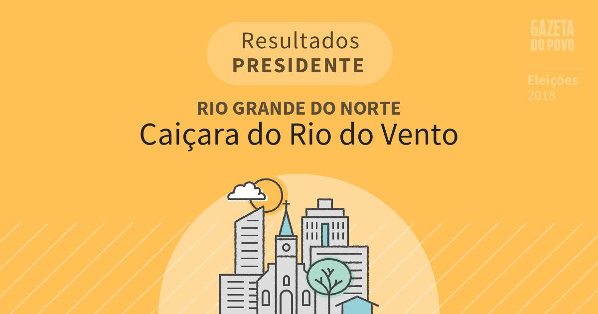Resultados para Presidente no Rio Grande do Norte em Caiçara do Rio do Vento (RN)