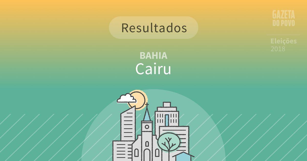 Resultados da votação em Cairu (BA)