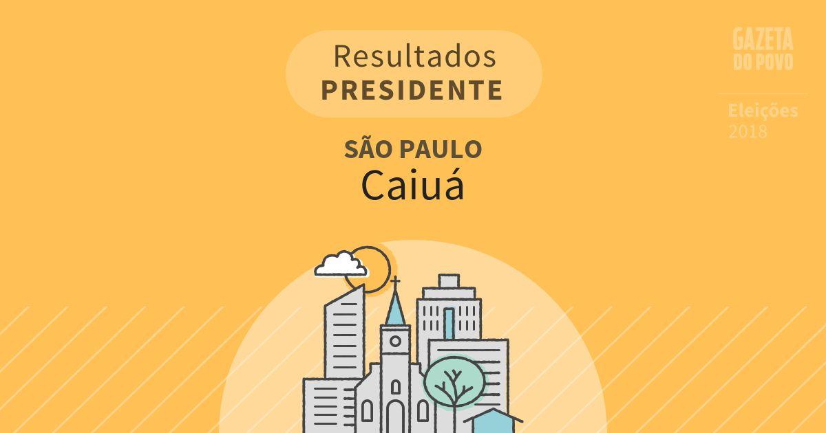 Resultados para Presidente em São Paulo em Caiuá (SP)