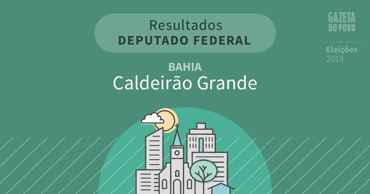 Resultados para Deputado Federal na Bahia em Caldeirão Grande (BA)