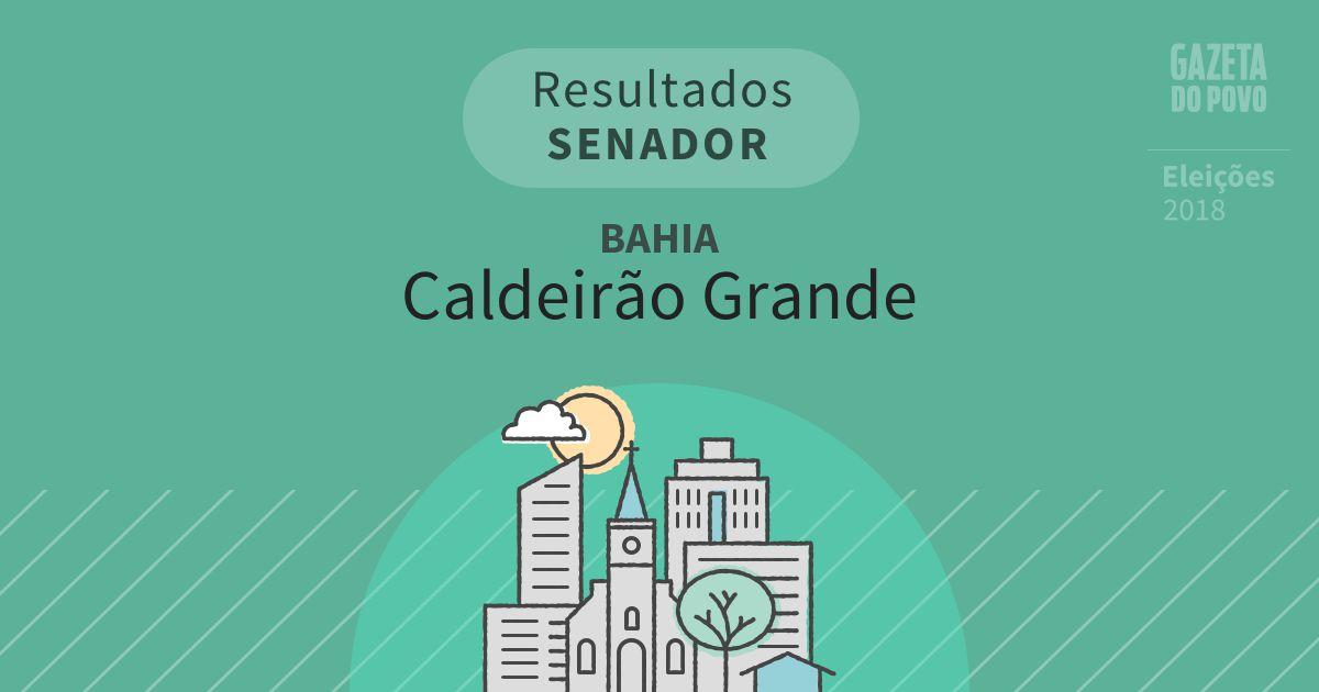 Resultados para Senador na Bahia em Caldeirão Grande (BA)