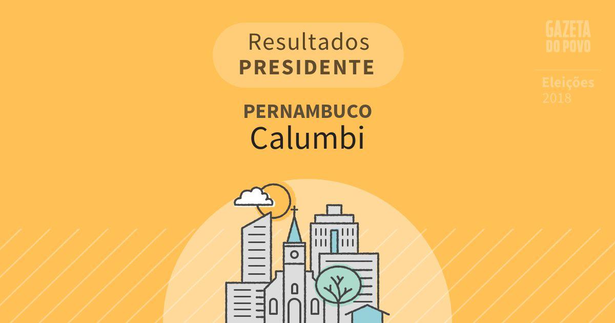 Resultados para Presidente em Pernambuco em Calumbi (PE)