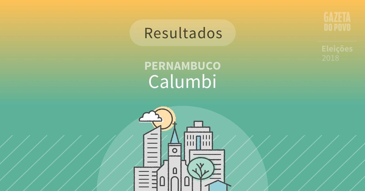 Resultados da votação em Calumbi (PE)