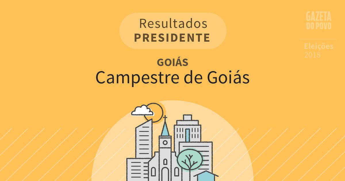 Resultados para Presidente em Goiás em Campestre de Goiás (GO)
