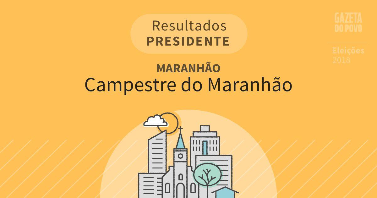 Resultados para Presidente no Maranhão em Campestre do Maranhão (MA)