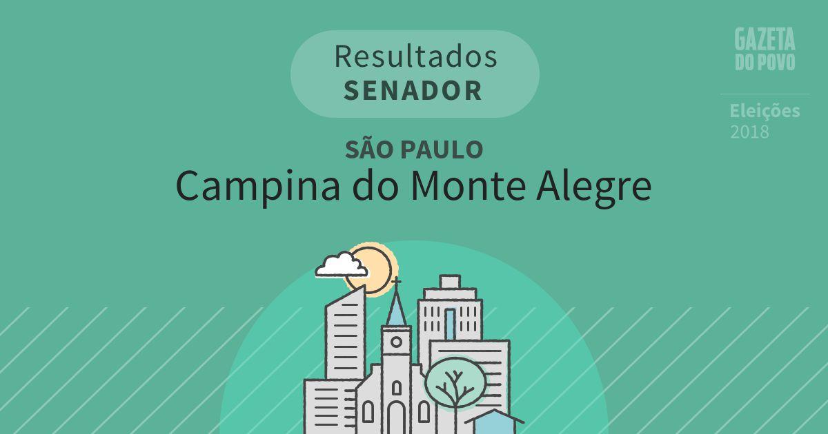 Resultados para Senador em São Paulo em Campina do Monte Alegre (SP)