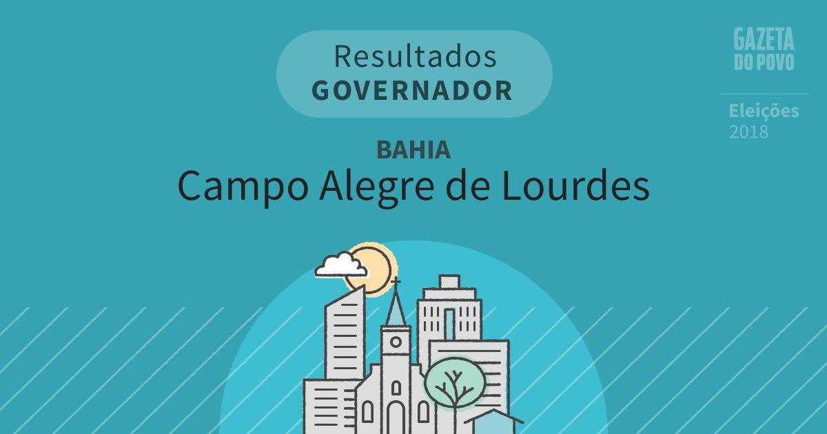 Resultados para Governador na Bahia em Campo Alegre de Lourdes (BA)