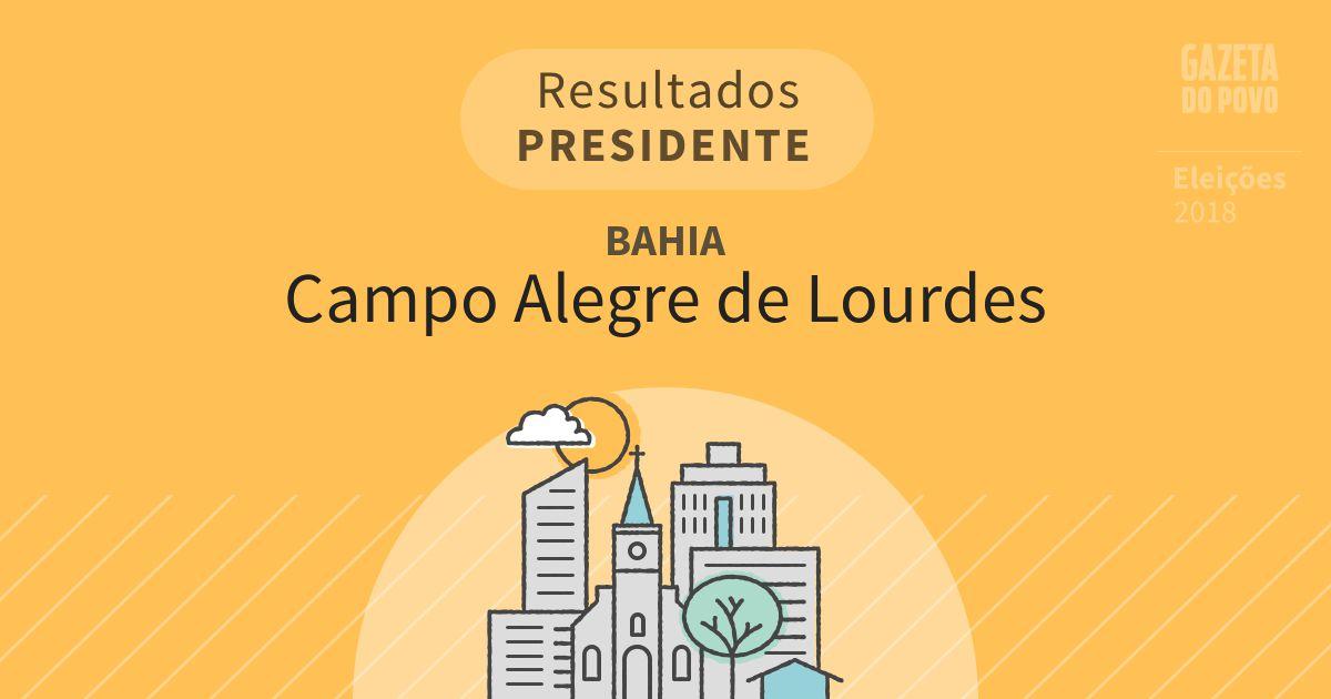 Resultados para Presidente na Bahia em Campo Alegre de Lourdes (BA)