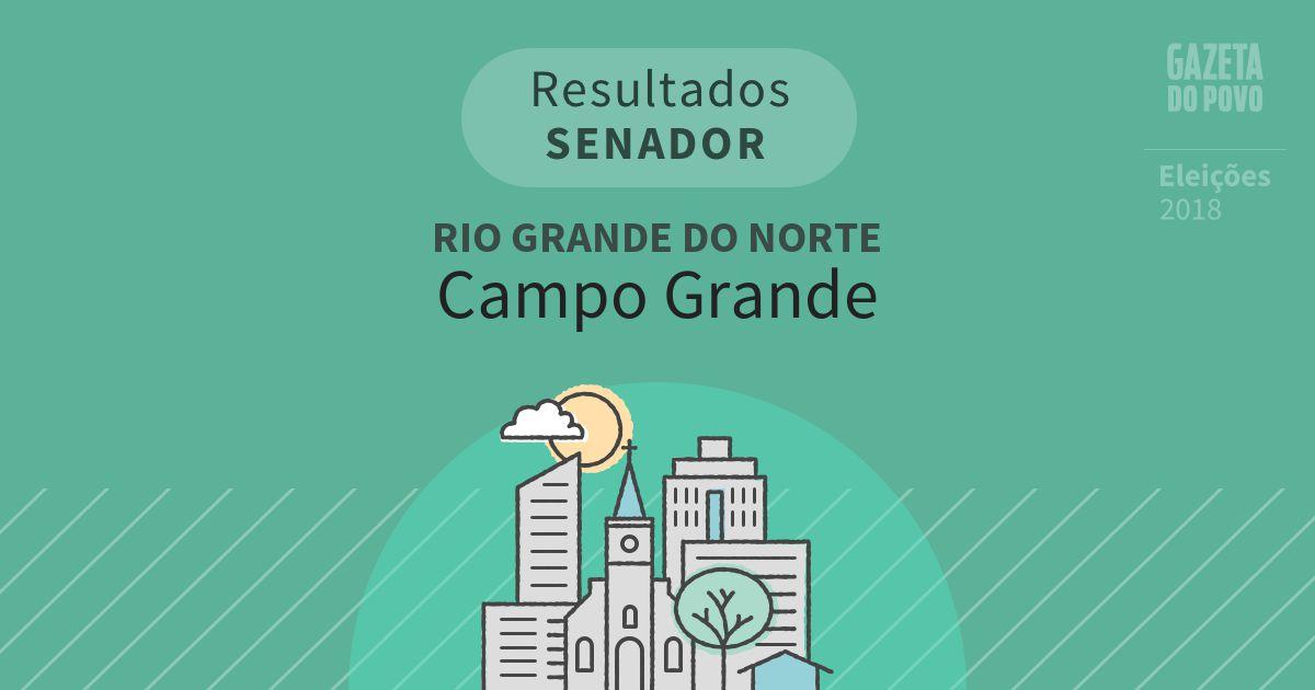 Resultados para Senador no Rio Grande do Norte em Campo Grande (RN)