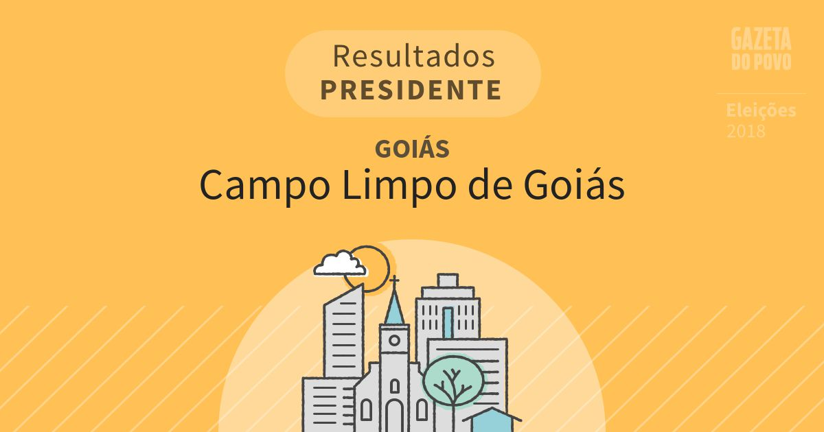 Resultados para Presidente em Goiás em Campo Limpo de Goiás (GO)