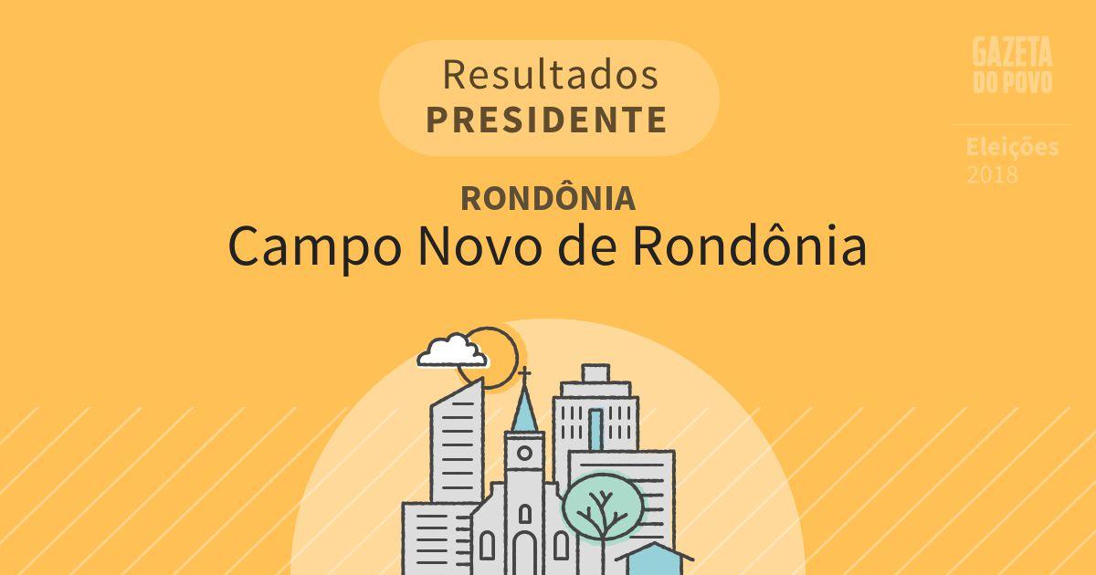 Resultados para Presidente em Rondônia em Campo Novo de Rondônia (RO)
