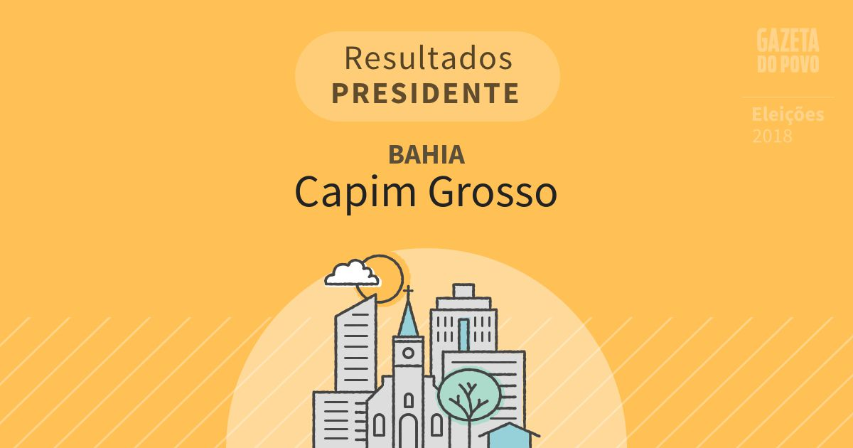 Resultados para Presidente na Bahia em Capim Grosso (BA)