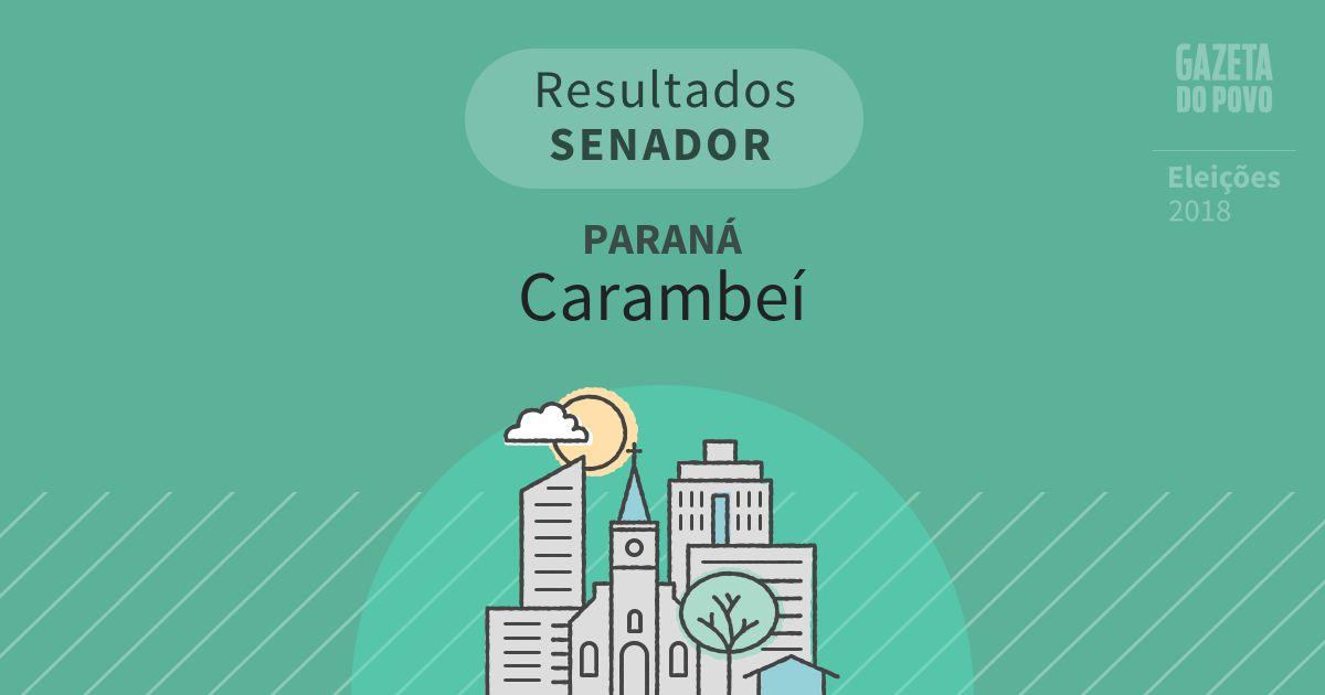 Resultados para Senador no Paraná em Carambeí (PR)
