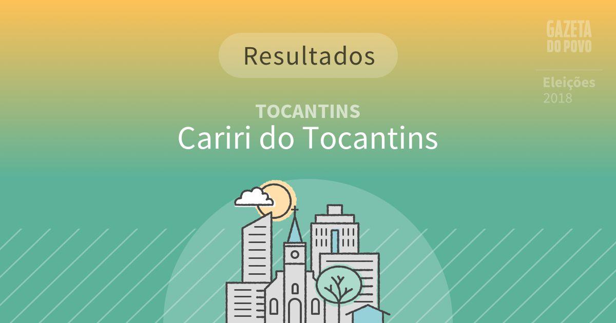 Resultados da votação em Cariri do Tocantins (TO)