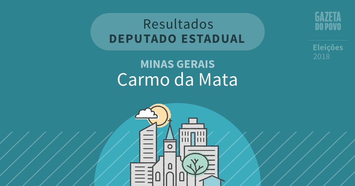 Resultados para Deputado Estadual em Minas Gerais em Carmo da Mata (MG)