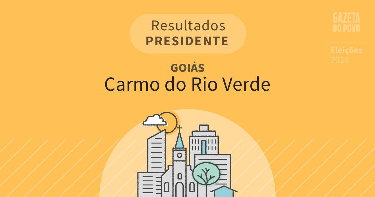 Resultados para Presidente em Goiás em Carmo do Rio Verde (GO)