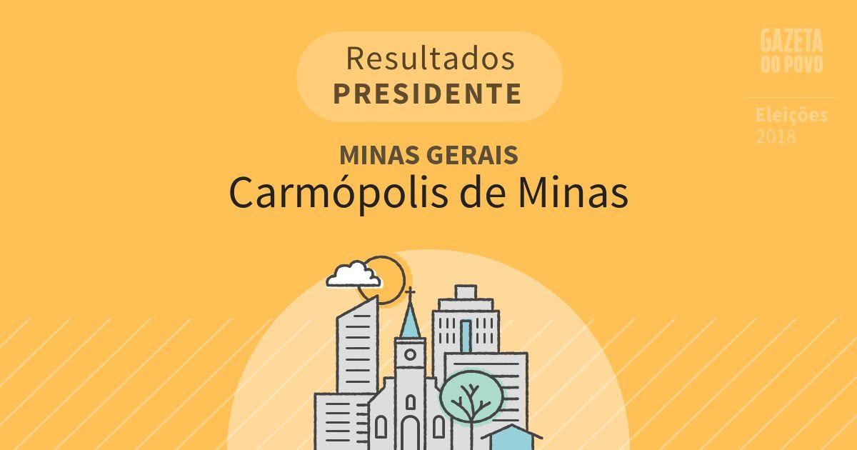 Resultados para Presidente em Minas Gerais em Carmópolis de Minas (MG)