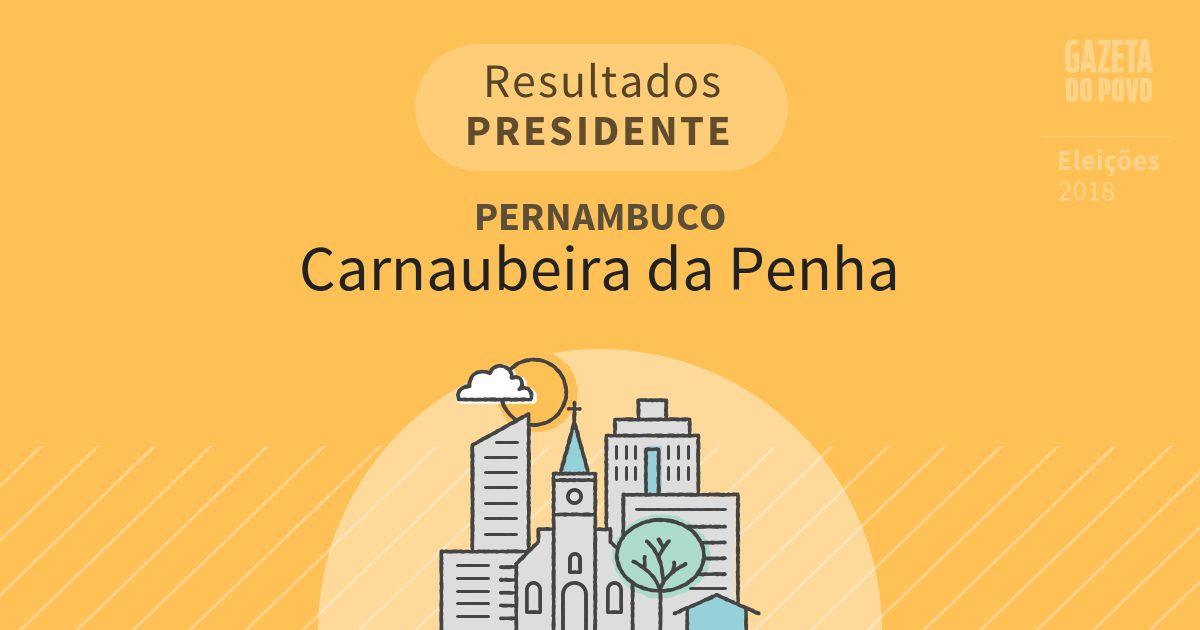Resultados para Presidente em Pernambuco em Carnaubeira da Penha (PE)