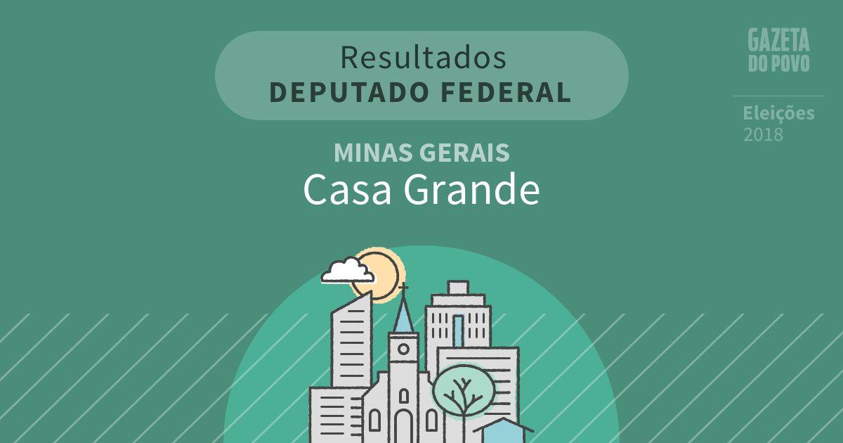 Resultados para Deputado Federal em Minas Gerais em Casa Grande (MG)