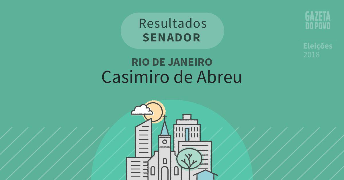 Resultados para Senador no Rio de Janeiro em Casimiro de Abreu (RJ)