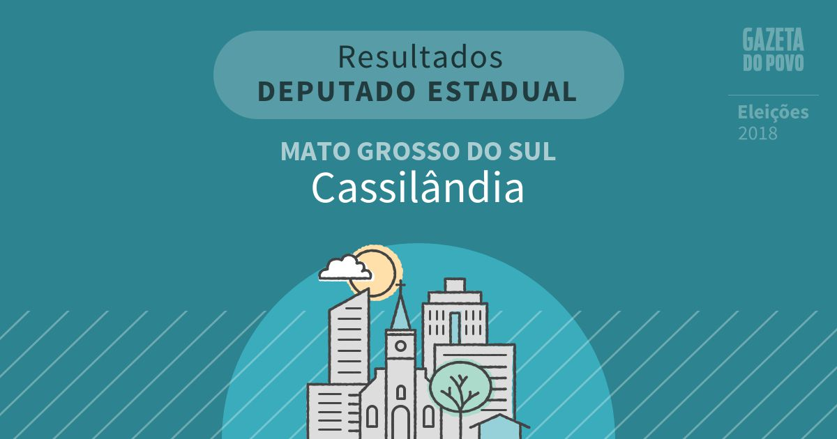 Resultados para Deputado Estadual no Mato Grosso do Sul em Cassilândia (MS)