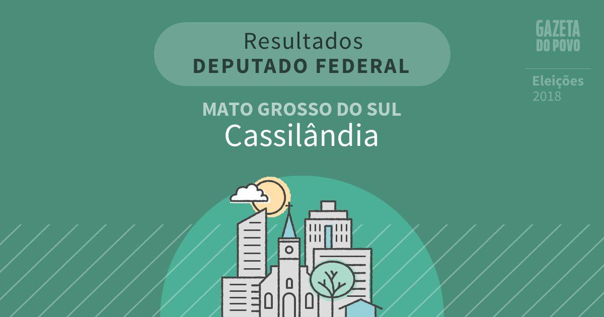 Resultados para Deputado Federal no Mato Grosso do Sul em Cassilândia (MS)