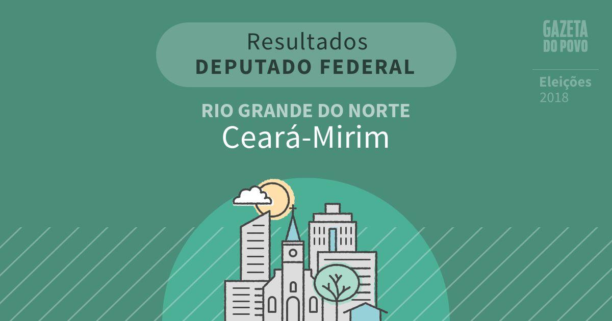 Resultados para Deputado Federal no Rio Grande do Norte em Ceará-Mirim (RN)